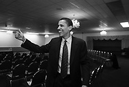 Illinois State Senator and U.S. Senate candidate Barack Obama campaigns on the south side of Chicago Saturday March 6, 2004. ..