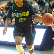 UNCW's Amber Reeves drives against Drexel Sunday February 1, 2015 at Trask Coliseum on the campus of UNCW. (Jason A. Frizzelle)