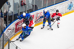 JEGLIC Ziga (SLO) vs IRIKURA Taiga (JAP) during OI pre-qualifications of Group G between Slovenia men's national ice hockey team and Japan men's national ice hockey team, on February 9, 2020 in Ice Arena Podmezakla, Jesenice, Slovenia. Photo by Peter Podobnik / Sportida