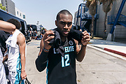 THOUSAND OAKS, CA Sunday, August 12, 2018 - Nike Basketball Academy. De&rsquo;Vion Harmon 2019 #12 of John H. Guyer HS poses outside. <br /> NOTE TO USER: Mandatory Copyright Notice: Photo by Jon Lopez / Nike