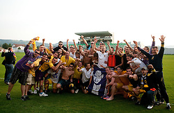 Players of Maribor celebrate after winning the football match between NK Primorje and NK Maribor of 1st Slovenian football league PrvaLiga, on May 21, 2011 in Ajdovscina, Slovenia. Maribor defeated Primorje 2-1 and became Slovenian national Champion 2010/2011. (Photo By Vid Ponikvar / Sportida.com)