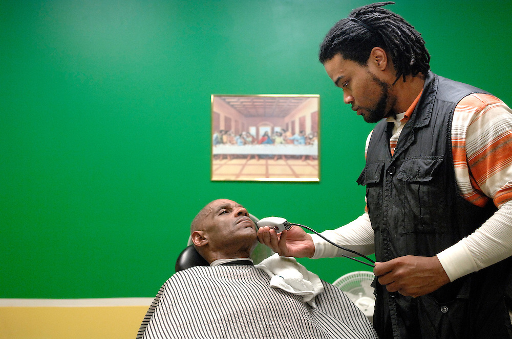 Before Lloyd Hayes can unlock the front door of his barbershop, he has a customer waiting. The one-chair shop called All-Star Cuts at 601 Business Loop 70 has only been open for a year, but Lloyd feels blessed by the business.<br /> <br /> Throughout the morning, regulars stream through the glass doors and take a seat on one of the overstuffed chairs to wait their turn. Smooth jazz provides a quiet background for the wide-ranging conversations, which Lloyd says are the backbone of his business.<br /> <br /> &quot;The haircut is the icebreaker, that's the given,&quot; he explains. &quot;The relationship-building is the real goal.&quot;<br /> <br /> To do that, Lloyd has worked hard to cultivate a positive environment. &quot;I want to bring back the professional atmosphere, not the hustle and bustle and loud loitering.&quot;<br /> <br /> Positive affirmations and religious iconography adorn the walls, painted green, white and gold. They are the colors of his high school back in Kansas City, but Lloyd explains they also stand for prosperity, peace and royalty. &quot;People say I'm too deep with this stuff, but everything matters,&quot; he says.<br /> <br /> He is just as attentive with clippers and a straight razor.<br /> <br /> &quot;He gives me the mirror at the end,&quot; loyal customer Terrence Williams says, &quot;but I don't even need it. I already know it's perfect.&quot;<br /> <br /> &quot;I treat this person in my chair as if it were me,&quot; Lloyd says. &quot;I'm reviving their image of themselves, their self-worth and self-esteem.&quot;<br /> <br /> Hayes has a small, regular clientele that he hopes will grow with time. &quot;When you see them coming back, I'm inspired to keep them coming back,&quot; Lloyd says.<br /> <br /> &quot;One day at a time, one head at a time.&quot;