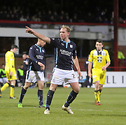 Gary Irvine after netting Dundee's consolation goal  - Dundee v St Mirren, SPFL Premiership at <br /> Dens Park<br /> <br />  - &copy; David Young - www.davidyoungphoto.co.uk - email: davidyoungphoto@gmail.com