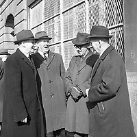 R4384<br /> Group of four men at the 1916 Commemoration in 1966. Second On the left side is Thomas O'Reilly others Names and location unknown. April 3 1966.<br /> (Part of the Independent Newspapers Ireland/NLI Collection)