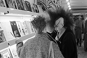 Chigwell Punk Girls in Shop, UK, 1980s.
