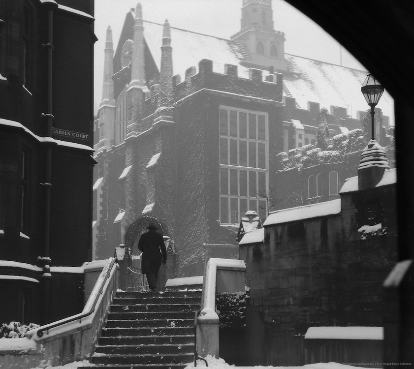 Winter, Temple, London, 1929