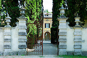 La Foce mansion open to the public near Montepulciano in Val D'Orcia area of Tuscany, Italy