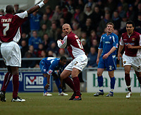 Photo: Ian Hebden.<br /> <br /> Northampton Town v Rushden & Diamonds. Coca Cola League 2. 04/02/2006.<br /> <br /> Northampton Towns David Hunt (C) celebrates scoring in the first half.