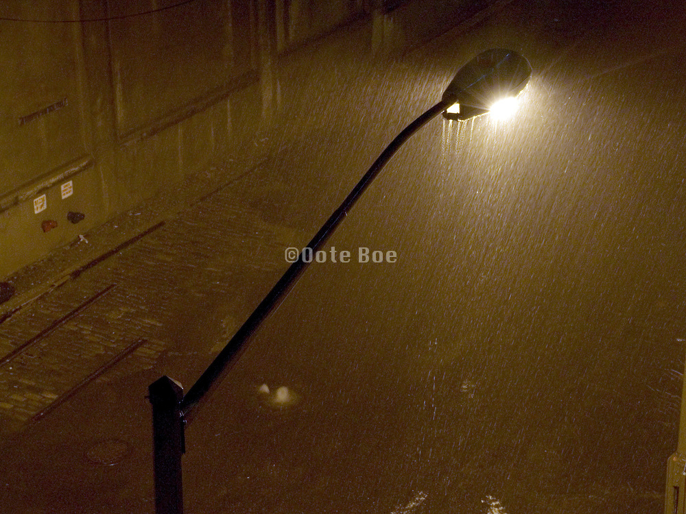 streetlight in a thunderstorm