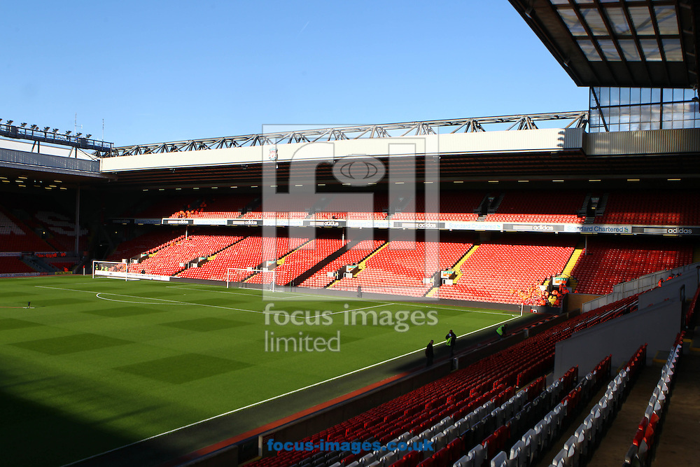 Picture by Paul Chesterton/Focus Images Ltd.  07904 640267.22/10/11.General views of Anfield, Liverpool before the Barclays Premier League match