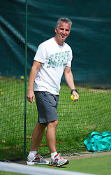 LONDON, ENGLAND - Tuesday, June 26, 2012: Jozef Ivanko fitness coach of Petra Kvitova (CZE) during practice during day two of the Wimbledon Lawn Tennis Championships at the All England Lawn Tennis and Croquet Club. (Pic by David Rawcliffe/Propaganda)