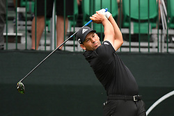 May 3, 2019 - Charlotte, NC, U.S. - CHARLOTTE, NC - MAY 03: Sergio Garcia plays his shot from the tenth tee in round two of the Wells Fargo Championship on March 03, 2019 at Quail Hollow Club in Charlotte,NC. (Photo by Dannie Walls/Icon Sportswire) (Credit Image: © Dannie Walls/Icon SMI via ZUMA Press)