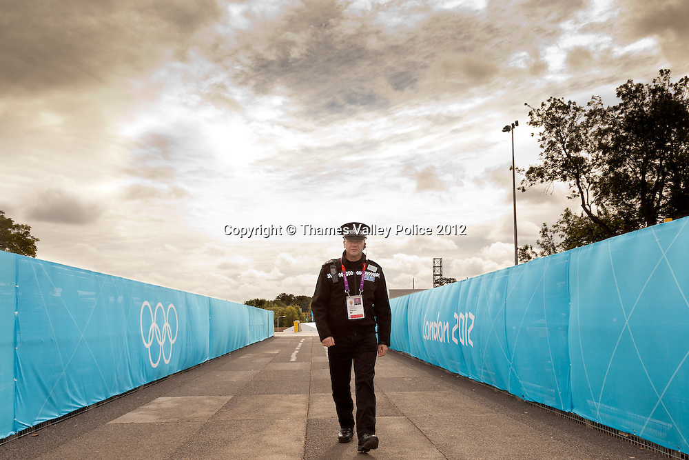 Chief Insp Jon Malley of Hampshire Constabulary commands the joint force police operation at the Eton Dorney Olympic Venue during the London 2012 Games. Eton Dorney, UNITED KINGDOM. August 07 2012. <br /> Photo Credit: MDOC/Thames Valley Police<br /> &copy; Thames Valley Police 2012. All Rights Reserved. See instructions.