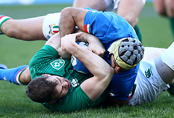 February 24, 2019 - Rome, Italy - Italy v Ireland - Rugby Guinness Six Nations.Chris Farrell of Ireland and Angelo Esposito of Italy at Olimpico Stadium in Rome, Italy on February 24, 2019. (Credit Image: © Matteo Ciambelli/NurPhoto via ZUMA Press)