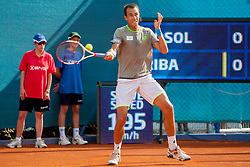 Lukas Rosol of Czech Republic during a tennis match against the Pere Riba of Espana in 2nd round of singles at 25th Vegeta Croatia Open Umag, on July 23, 2014, in Stella Maris, Umag, Croatia. Photo by Urban Urbanc / Sportida