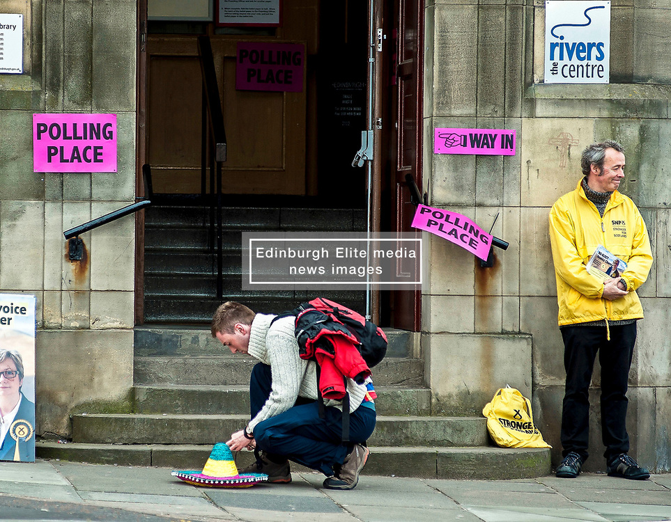 always annoying when you drop your sombrero in a cold and wet Edinburgh city centre...<br /> <br /> © Dave Johnston/ EEm