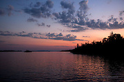 crescent moon, at, sunset, Isle Royale, National Park