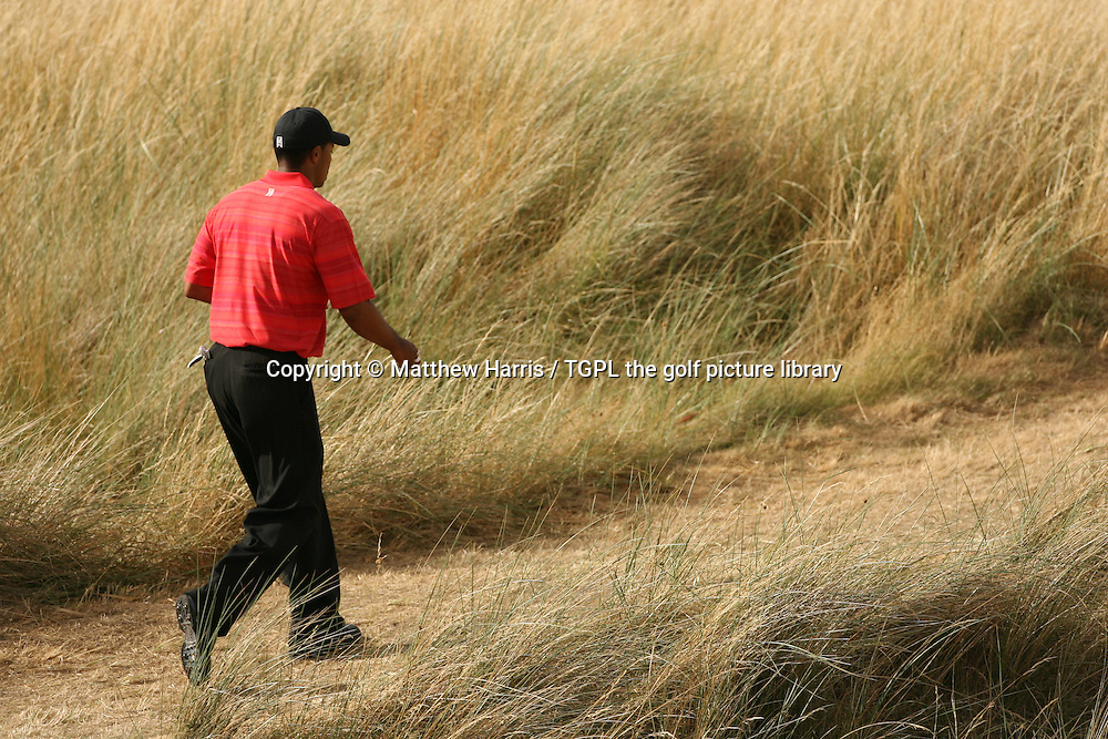 Tiger WOODS (USA) walks off the 15th tee during fourth round The Open Championship 2006,Royal Liverpool,Hoylake,Wirral,England.