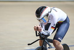 March 2, 2019 - Pruszkow, Poland - Lisa Brennauer of Germany competes in the Women's individual pursuit race final on day four of the UCI Track Cycling World Championships held in the BGZ BNP Paribas Velodrome Arena on March 02 2019 in Pruszkow, Poland. (Credit Image: © Foto Olimpik/NurPhoto via ZUMA Press)