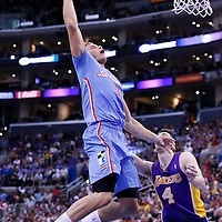 06 April 2014: Los Angeles Clippers forward Blake Griffin (32) goes for the dunk during the Los Angeles Clippers 120-97 victory over the Los Angeles Lakers at the Staples Center, Los Angeles, California, USA.