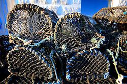 UK CORNWALL NEWLYN 9JUN08 - Crab pots at Newlyn harbour in Cornwall, western England...jre/Photo by Jiri Rezac / WWF UK..© Jiri Rezac 2008..Contact: +44 (0) 7050 110 417.Mobile:  +44 (0) 7801 337 683.Office:  +44 (0) 20 8968 9635..Email:   jiri@jirirezac.com.Web:    www.jirirezac.com..© All images Jiri Rezac 2008 - All rights reserved.