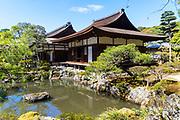 Japan, Kyoto, Ginkaku-ji (Jishō-ji or Temple of the Silver Pavilion) Zen Buddhist temple