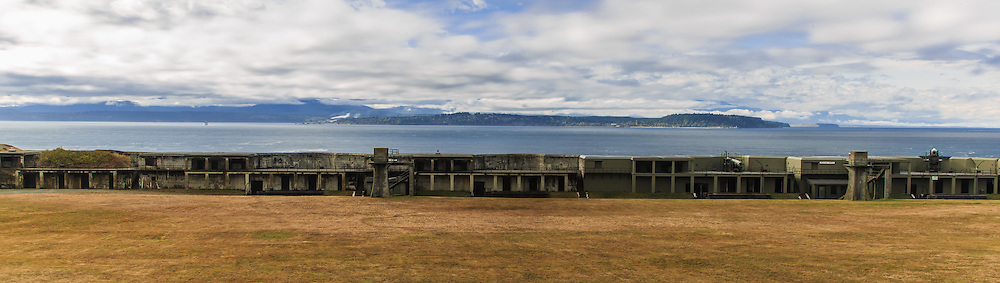 "Admiralty Inlet was considered so strategic to the defense of Puget Sound in the 1890s that three forts, Fort Casey on Whidbey Island, Fort Flagler on Marrowstone Island, and Fort Worden at Port Townsend, were built at the entrance with huge guns creating a ""Triangle of Fire."" This military strategy was built on the theory that the three fortresses would thwart any invasion attempt by sea. Fort Casey is now a 467 acres (1.89 km2) marine camping park."