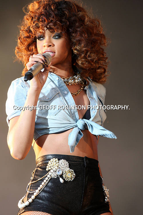 RIHANNA AT  THE V FESTIVAL IN CHELMSFORD,ESSEX,ON SUNDAY   21 AUGUST.... Over 100,000 music fans   headed to Chelmsford this weekend for the 16th V Festival at Hylands Park...The two-day music festival featured performances by Arctic Monkeys, Dizzee Rascal, Eminem and Pendulum...