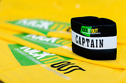 Kick It Out captains arm band in the Bristol City changing room prior to kick off  - Mandatory by-line: Ryan Hiscott/JMP - 09/04/2019 - FOOTBALL - Ashton Gate Stadium - Bristol, England - Bristol City v West Bromwich Albion - Sky Bet Championship