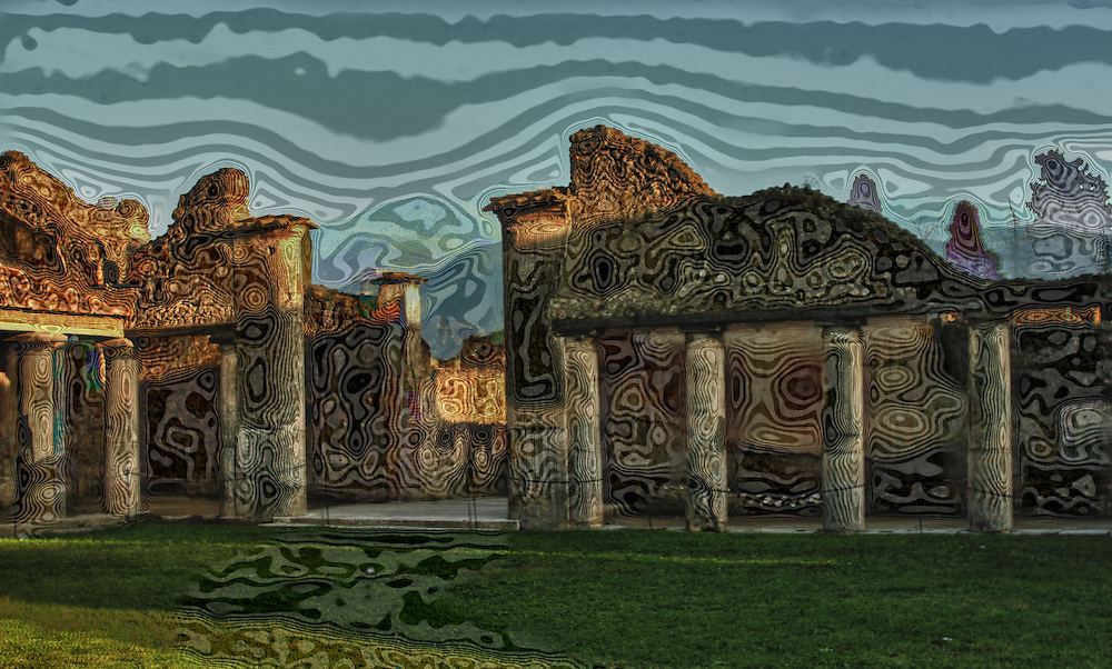 Abstract Pompei Ruins