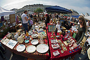 The Naschmarkt, Vienna's biggest market. The Saturday flea market.