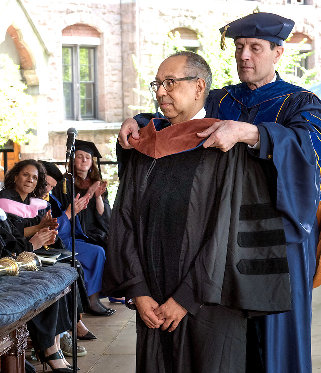 May 23, 2016 New Haven<br /> The Yale University commencement exercises. Theater director George C. Wolfe receiving his honorary doctorate.