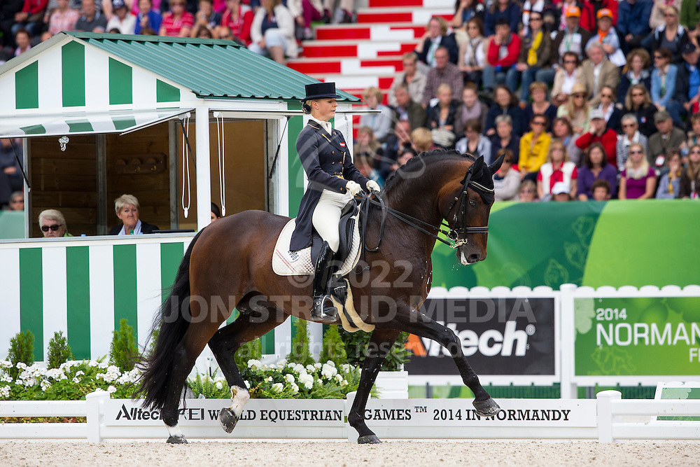 Victoria Max Theurer, (AUT), Augustin Old - Grand Prix Special Dressage - Alltech FEI World Equestrian Games&trade; 2014 - Normandy, France.<br /> &copy; Hippo Foto Team - Leanjo de Koster<br /> 25/06/14