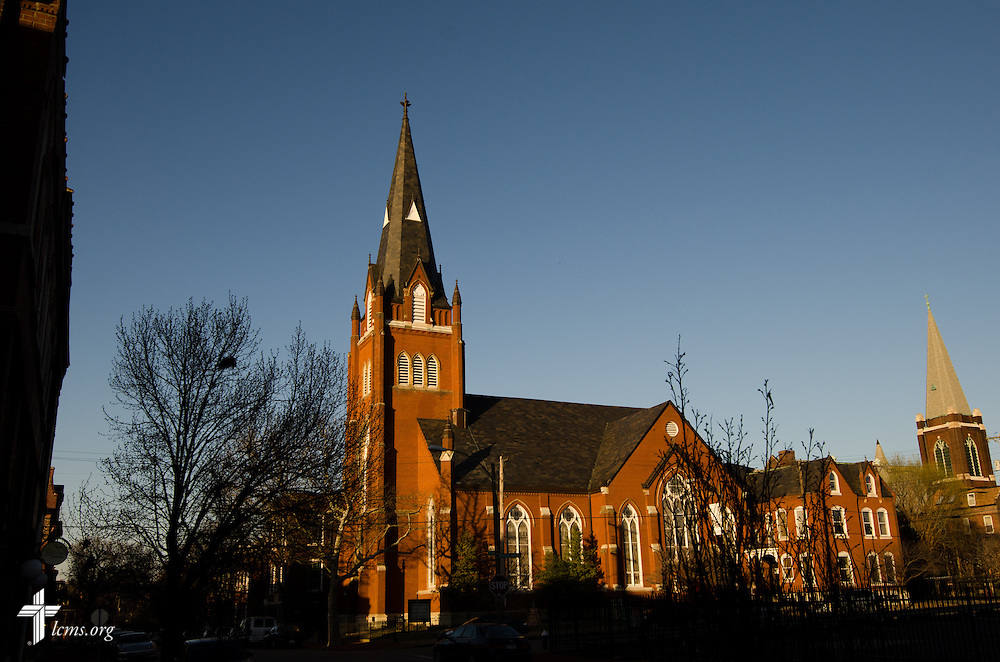Exterior photograph of Trinity Lutheran Church in Soulard, a part of St. Louis, on Tuesday, April 1, 2014. LCMS Communications/Erik M. Lunsford
