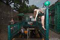 West 4th Street Subway Station, West Village New York City- Dance As Art Photography Project with dancer Kathryn Mulcahey