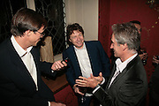RODERICK CAMPBELL, DANNY MOYNIHAN AND TONY BROMOSKY, Party for David LaChapelle and Ron Arad given by Ivor Braka. Cadogan sq. London. 10 October 2007. -DO NOT ARCHIVE-© Copyright Photograph by Dafydd Jones. 248 Clapham Rd. London SW9 0PZ. Tel 0207 820 0771. www.dafjones.com.