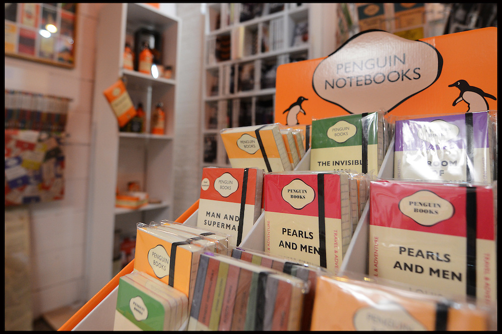 Varie book shop in Camden Lock specialises in Penguin books on June 25th 2012...