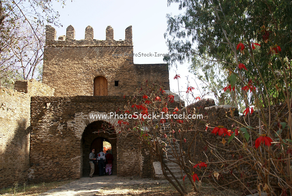 Africa, Ethiopia, Gondar The Royal Enclosure Church of Debre Birhan Selassie