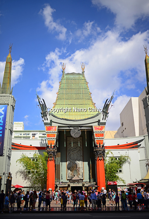 Grauman's Chinese Theatre at Hollywood Boulevard, Los Angeles.
