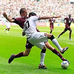 10.09.2011,  BorussiaPark, Mönchengladbach, GER, 1.FBL, Borussia Mönchengladbach vs 1. FC Kaiserslautern, im Bild.Igor de Camargo (Mönchengladbach #10) gegen Martin Amedick (Kaiserslautern #5)..// during the 1.FBL, Borussia Mönchengladbach vs 1. FC Kaiserslautern on 2011/09/09, BorussiaPark, Mönchengladbach, Germany. EXPA Pictures © 2011, PhotoCredit: EXPA/ nph/  Mueller *** Local Caption ***       ****** out of GER / CRO  / BEL ******