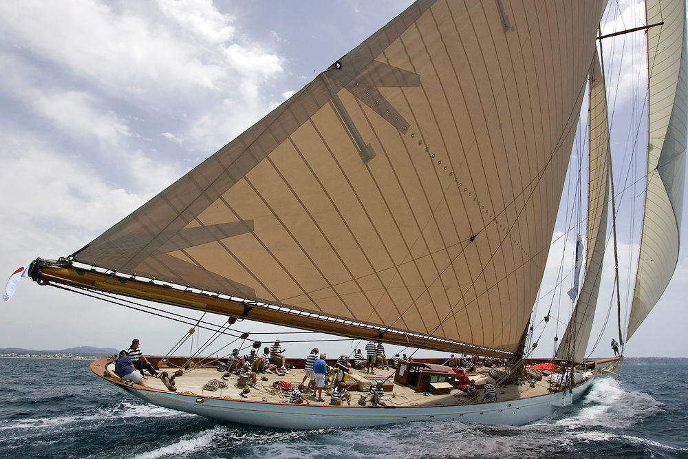 "Valencia/Spain/THE SUPERYACHT CUP PALMA 2007/18JUN07. ""Lulworth"", is the sole survivor of the legendary Big Five, which included the King's yacht Britannia, Westward, White Heather II and Shamrock. Lulworth is the oldest boat (1920) in this regatta."