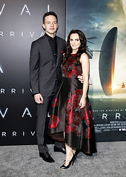 Mark O'Brien and Georgina Reilly at the Los Angeles premiere of 'Arrival' held at the Regency Village Theater in Westwood, USA on November 6, 2016.