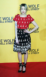 © Licensed to London News Pictures. 09/01/2014, UK. Peaches Geldof, The Wolf of Wall Street - UK film premiere, Odeon Leicester Square, London UK, 09 January 2014. Photo credit : Richard Goldschmidt/Piqtured/LNP