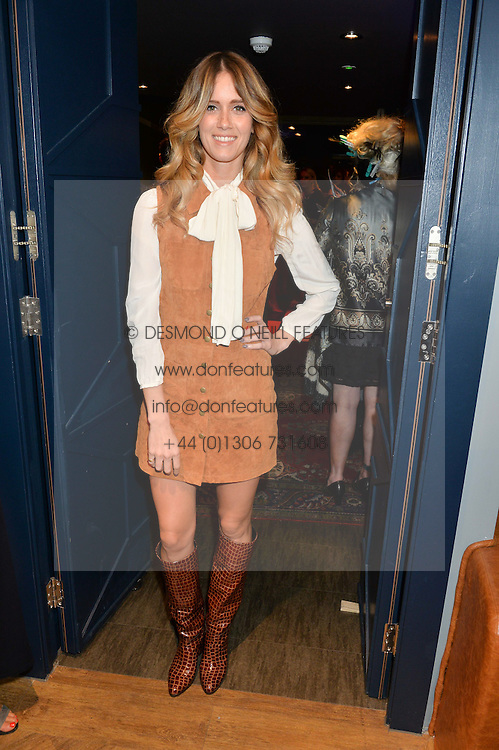 WHINNIE WILLIAMS at a party to celebrate the 1st anniversary of Hello! Fashion Monthly magazine held at Charlie, 15 Berkeley Street, London on 14th October 2015.