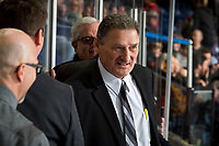 KELOWNA, BC - MARCH 02:  Portland Winterhawks' assistant coach Don Hay stands on the bench after the win against the Kelowna Rockets at Prospera Place on March 2, 2019 in Kelowna, Canada. (Photo by Marissa Baecker/Getty Images)