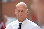 Reading manager Jaap Stam arrives at the City ground ahead of the EFL Sky Bet Championship match between Nottingham Forest and Reading at the City Ground, Nottingham, England on 22 April 2017. Photo by Jon Hobley.