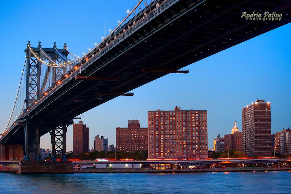 The Manhattan Bridge from below