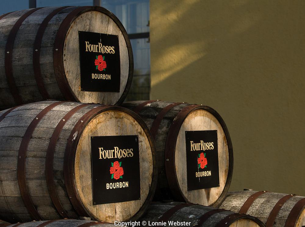 Kentucky Bourbon Barrels Four Roses Distillery in Lawrenceburg, Kentucky