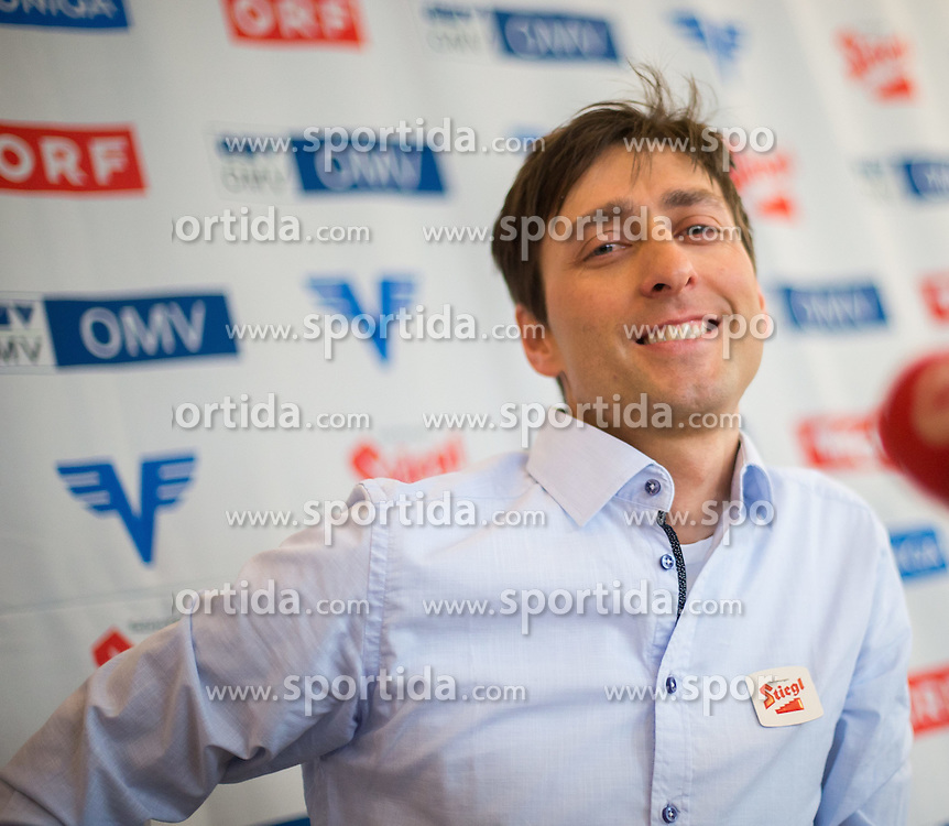 27.02.2015, Österreich Haus, Falun, SWE, FIS Weltmeisterschaften Ski Nordisch, Pressekonferenz, Mario Stecher, im Bild Mario Stecher (AUT) // Austria Nordic Combined Athlete Mario Stecher during a Pressconference of the FIS Nordic Ski World Championships 2015 at the Ski Austria House, Falun, Sweden on 2015/02/27. EXPA Pictures © 2015, PhotoCredit: EXPA/ JFK