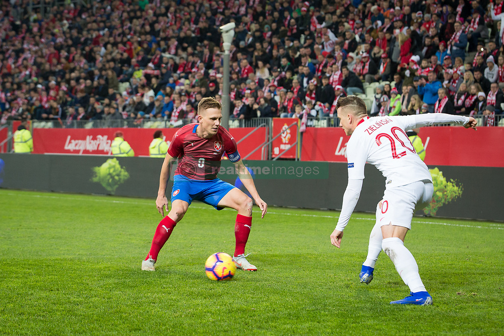 November 15, 2018 - Gdansk, Pomorze, Poland - Borek Dockal (9) Piotr Zielinski (20) during the international friendly soccer match between Poland and Czech Republic at Energa Stadium in Gdansk, Poland on 15 November 2018  (Credit Image: © Mateusz Wlodarczyk/NurPhoto via ZUMA Press)